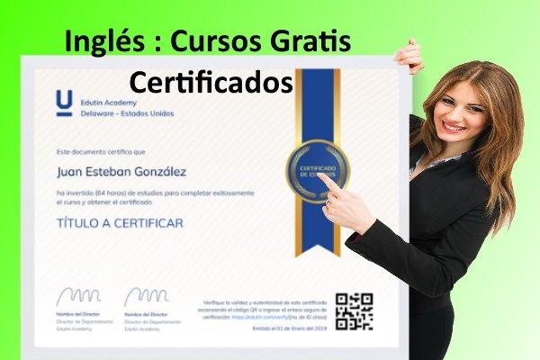 cursos gratis de ingles certificados virtuales