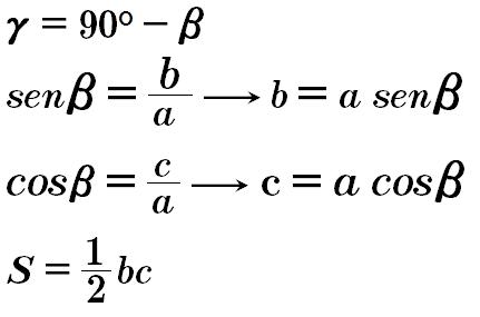 formula triangulo rectangulo caso 3