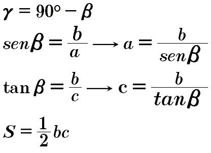 formula triangulo rectangulo caso 4